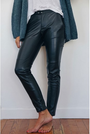 Pantalon Simili Cuir Rock